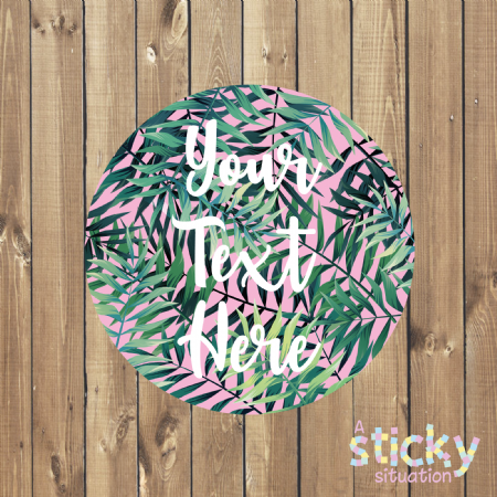 Personalised Customisable Stickers - Tropical Palm Design